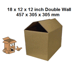 cardboard removal boxes 18x12x12 Book box