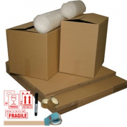 Starter home moving kit with removal boxes