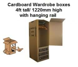 Cardboard Wardrobe Boxes 4ft tall</br>(Collection or local Delivery only)